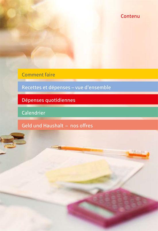 """Für Menschen mit geringen Deutschkenntnissen: """"Das einfache Haushaltsbuch"""" in Französisch."""