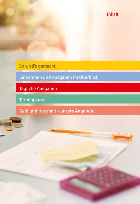 Ansichtsseite aus 'Das einfache Haushaltsbuch': Inhaltsverzeichnis.