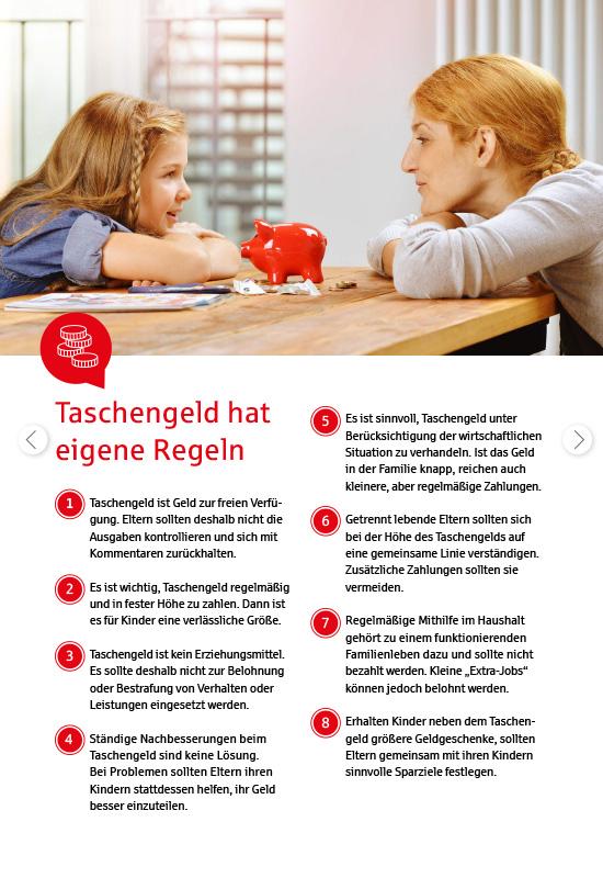 Ansichtsseite aus 'Fahrplan Taschengeld für Eltern und Kinder': Taschengeldregeln.
