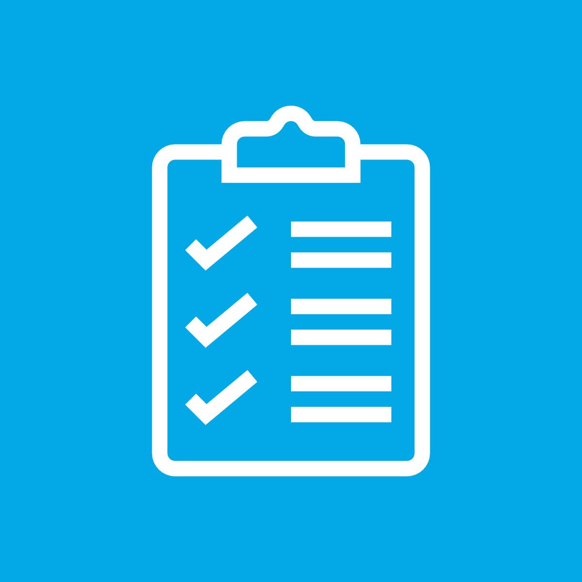 Icon für Checkliste